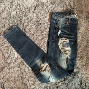 Ripped Blue Jeans Wet Seal